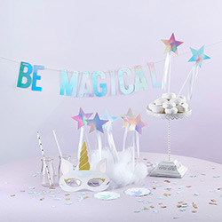 Enchanted Unicorn 49 Piece Party Décor Kit