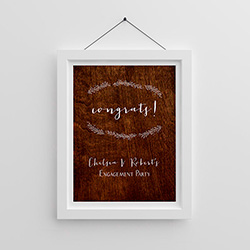 Personalized Poster (18x24) - Rustic