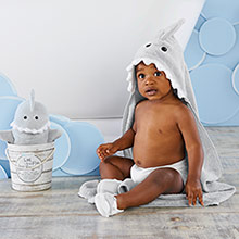 """Let the Fin Begin"" 4-Piece Bath Gift Set (Gray)"
